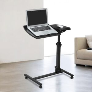 Bedside Adjustable Laptop Table with Wheels, Best Folding Bedside Laptop Stand, Bedside Laptop Desk in Dhaka, Adjustable Height Laptop Stand in Bangladesh