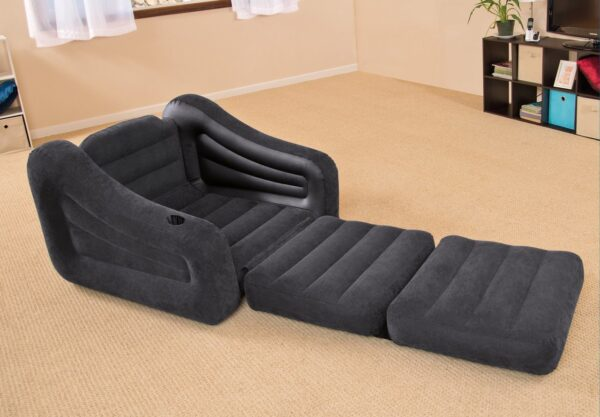 Intex Inflatable Pull Out Sofa Cum Bed Single / Sofa Bed is designed for relaxing just about anywhere, whether you are camping or at home.
