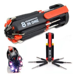 Multi Function Screwdriver Tool Set with 6 LED Lights, Multifunction Screwdriver Set in Bangladesh, Screwdriver Price in Dhaka, Screwdriver with Torch Light
