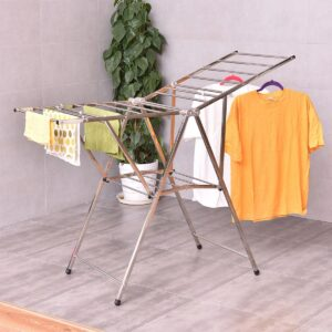 Aluminium Folding Clothes Drying Stand, Best quality Clothes Drying Stand, Portable clothes drying rack in BD, Foldable clothes dryer rack price in BD