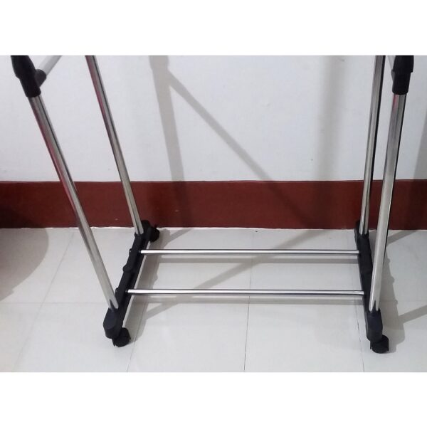 Double Pole Portable Clothes Rack in Bangladesh, Clothes Hanger Price in BD, Stainless Steel Adjustable Clothes Rack Price in Dhaka, 6808