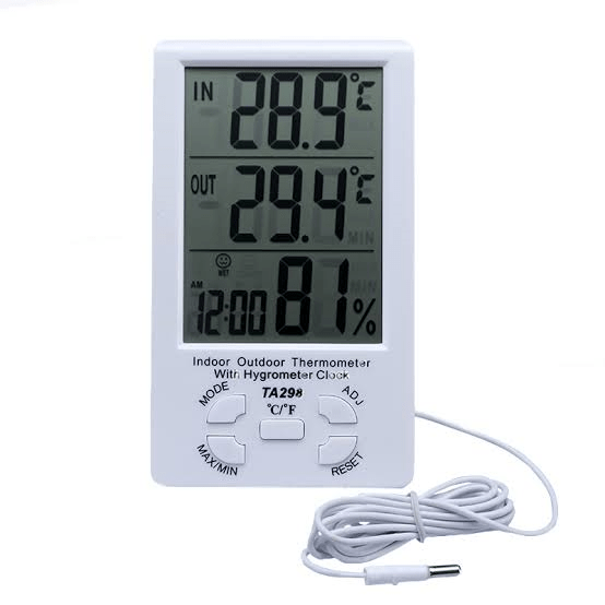TA298 Indoor Outdoor Digital Thermometer and Hygrometer with Alarm Clock is widely used for the measurement of the temperature and humidity in houses...