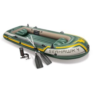 Seahawk 4 Inflatable Fishing Air Boat for 4 Person in Dhaka, Intex Inflatable Air Boat Price in Bangladesh, 4 Person Fishing Boat Price in BD