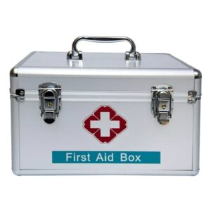 Best Quality Aluminium First Aid Box in Bangladesh, Emergency First Aid Kit Box in Dhaka, Double Lock First Aid Medical Box Price in BD, Double Lock Aluminium First Aid Box in Bangladesh