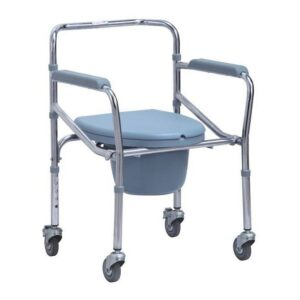 Height Adjustable Folding Commode Chair with Wheels in Bangladesh, Folding Toilet Chair Price in BD, Foldable Commode Chair for Patient and Adults in Dhaka