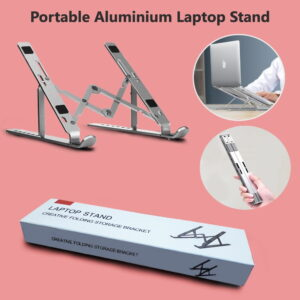 Collapsible Laptop Stand in BD, Portable Aluminium Laptop Stand in Dhaka, Folding Laptop Stand for Desk, Foldable Notebook Stand Price in BD, Collapsible & Portable Aluminium Laptop Stand in Bangladesh