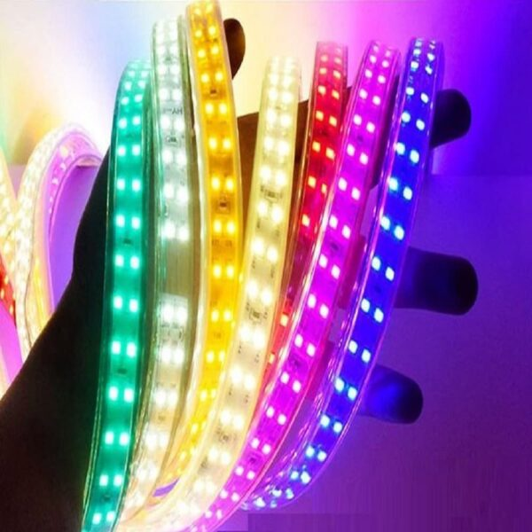 Multicolor Flexible LED Strip Light Price in Dhaka, Double Row Color Changing Ribbon Light Price in BD, Remote Control RGB Ribbon Light in BD, Color Changing Double Row LED Strip Light in Bangladesh