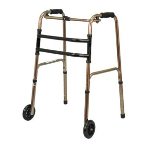 Heavy Duty Folding Walker for Adults in BD, Foldable Walker with Front Wheels for Adults in BD, Portable Folding Walker for Patient in Dhaka, Foldable Folding Walker with Front Wheels for Adults in Bangladesh
