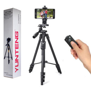 YUNTENG VCT-5208 Tripod with Bluetooth Control Shutter in BD, Portable Remote Control Tripod Price in BD, Tripod for Smartphone and Camera, Yunteng VCT-5208 in Bangladesh,