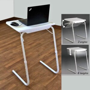 Foldable and Adjustable Table Mate II Price in Bangladesh, Multi-Purpose Table Mate-2 in Dhaka, Folding Laptop Table, Adjustable Bedside Table, টেবিল ম্যাট, বেড সাইড টেবিল