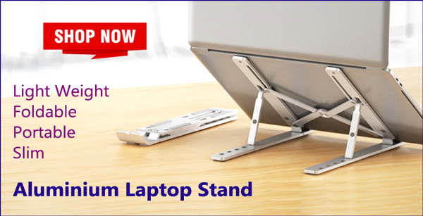 Collapsible Laptop Stand in Bangladesh, Portable Aluminium Laptop Stand in Dhaka, Folding Laptop Stand for Desk, Foldable Notebook Stand Price in BD, Folding iPad Stand in Bangladesh
