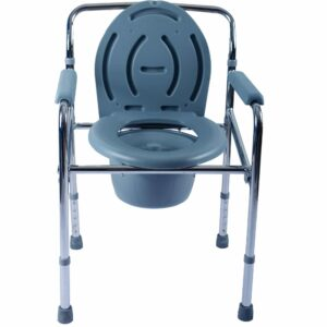 Height Adjustable Folding Commode Chair in Dhaka, Folding Toilet Chair Price in Bangladesh, Foldable Commode Chair for Patient and Adults in Dhaka, কমোড চেয়ার,