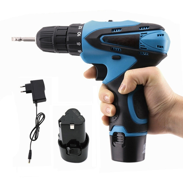 Rechargeable Multi-functional Screwdriver & Drill Machine Set, Cordless Electric Screwdriver in BD, Rechargeable Drill Machine Set in Bangladesh, রিচার্জেবল ড্রিল মেশিন